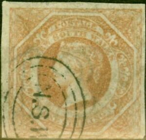 New South Wales 1854 1s Brownish Red SG101 Good Used