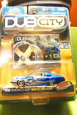 Muscle Machines Dub City 85 1985 Blue Cadillac Brougham White Flames WOW C More