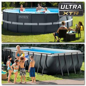 INTEX Komplettset Ultra XTR Frame Pool mit Sandfilteranlage Schwimmbecken