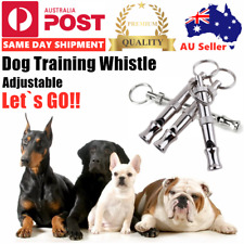 Dog Pet Puppy Training Obedience Stainless Whistle Adjustable Pitch Exercise Oz