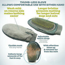 Pet Deshedding Brush Glove Cat Dog Hair Removal Grooming Comb