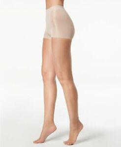 H31 Calvin Klein Champagne Infinite Sheer Control Top Tights - Size C