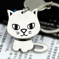Lovely Cat Keychain Creative Funny Gift Nice Moving Keyring Key Chain Ring