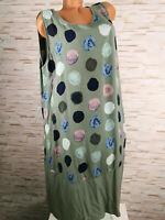 Damen Kleid knilang Sommerkleid Kreise Strand Büro Fest S 34 36 38 Hippie Boho