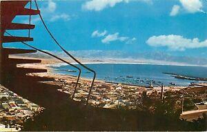 Old Chrome Mexico Postcard M227 Overlooking Ensenada Bay and Harbor Chapultepec