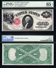 "Amazing GEM UNC 1917 $1 ""SAWHORSE"" Legal Tender Note! PMG 65 EPQ! FREE SHIP! 623"