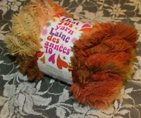 NEW LION THAT '70s YARN Groovy Style Brown Orange Acrylic Poly 100 g Turkey B B