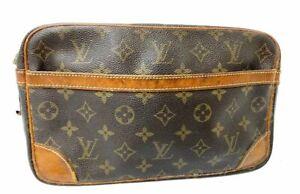 Authentic Louis Vuitton Monogram Compiegne 28 Pouch M51845 France R-1025