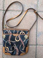 Ralph Lauren Bag Crossbody  Equestrian Design Polo Black