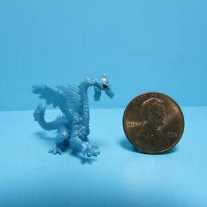 Dollhouse Miniature Plastic Rubber Blue Ice Dragon Toy MUL6039