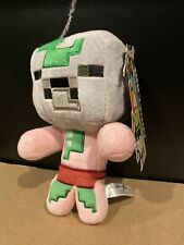 "Minecraft Happy Explorer Baby Zombie Pigman Plush 7"" New With Tags Jinx"
