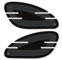 2 Protecciones Gel 3D Rodillas Depósito Compatible para Moto Triumph Bonneville