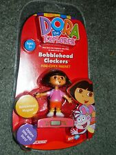 NEW Sealed DORA The EXPLORER FIGURE Mini CLOCK Magnet BOBBLE-HEAD CLOCKERS
