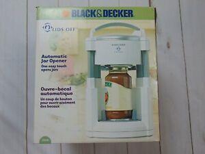 Black & Decker Lids Off Automatic Electric Jar Opener JW200 White