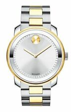 NEW Movado BOLD 3600431 Swiss Two Tone Mens Watch  Silver Dial BRAND NEW IN BOX