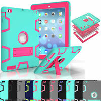 KIDS HEAVY DUTY SHOCKPROOF STAND CASE COVER FOR APPLE iPad 4 3 2/ Mini 4/Air 1/2