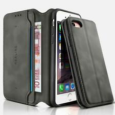REALIKE iPhone 7 case iphone 8 Leather Folio Flip Book Wallet Case