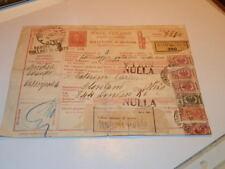 #6281,Unusual Italian Postal Cd w Many Stamps 1936