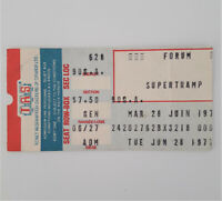 SUPERTRAMP 6/28/1977 Quietest Moments Tour Concert Ticket Stub Montreal Forum