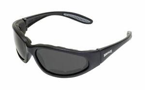 Hercules Plus UNBREAKABLE Sunglasses-Padded-Anti Fog-Smoked-NO BROKEN GLASSES!!!