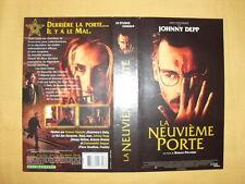 JOHNNY DEPP La Neuvième Porte Jaquette VHS Roman Polanski The Ninth Gate