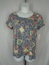 Lularoe Classic T Top Shirt Size Large Floral Blue Pink New