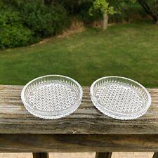 "Home Décor Glass Flush 3"" Pillar Candle Holder Coasters, Set of 2"
