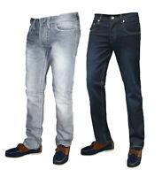 Mens Jeans Regular Fit Straight Leg Denim Pants All Waist Work Trouser Classic