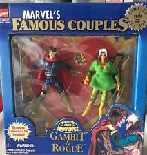 1997 TOY BIZ MARVEL'S FAMOUS COUPLES GAMBIT & ROUGE ACTION FIGURE 2-PACK Limited