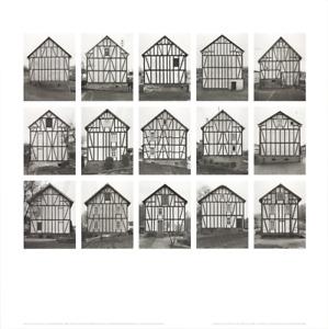 BERNHARD AND HILLA BECHER Half-Timbered Houses (no text) 27.5 x 27.5 Poster 2005