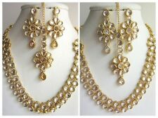 Indian Traditional Fashion Gold Tone Kundan Bridal & Wedding Party Jewelry Set