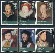 2009 GB THE AGE OF THE TUDORS SET OF 6 FINE MINT MNH SG2924-SG2929