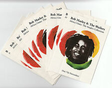 BOB MARLEY & WAILERS Africa Unite set of 10 promo-only roach cards MINT