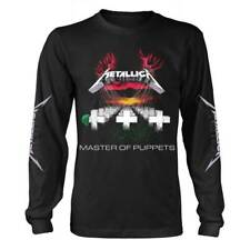 Metallica 'Master Of Puppets Tracks' Black Long Sleeve T shirt - NEW
