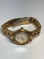 Seiko Ladies Stainless Steel Gold Tone Quartz Watch With Date