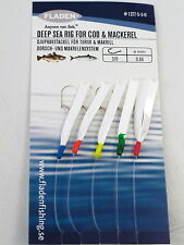 25 Packs Daylight 5 Hook Size 3/0 Fishing Mackerel Feathers Lures Sea Pollack