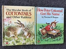 2 Wonder Books The Book of Cottontails and Other Rabbits How Peter Got His Name