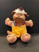 Vintage Cabbage Patch Kids Koosas Dog Plush Pet Doll With Clothes Coleco 1983