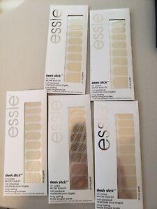 "5 Packs Essie Sleek Stick Nail Applique Strips stickers ""oh my gold!"""