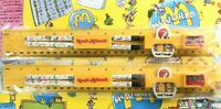 Vintage 1992 Ronald McDonald Pencil, Eraser, Ruler, Sharpener Set McDonald's