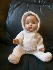 """Vintage Effanbee Patsy Baby Sleepy Eyes Composition Jointed Baby Doll 8"""" VGC"""