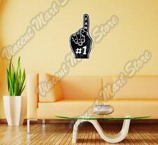 """Sport Fan #1 Baseball Football Soccer Wall Sticker Room Interior Decor 16""""X25"""""""