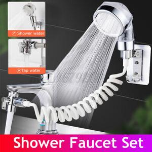 Handheld Shower Head Hair Washing HandShower Faucet Rinser Set With Hose !