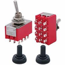 Twidec2pcs Mini Toggle Switch 4pdt 2 Position 12 Pins Onon Miniature Toggle
