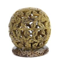 Antique stone tealight candle holder floral work Amazing light reflection