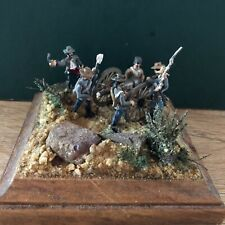 Finely Painted Confederate Artillery Diorama. 20mm Metal Figures