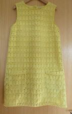 Next Girls Dress Age 12 Summer Yellow Lace Flower Pockets Tunic Shift Party