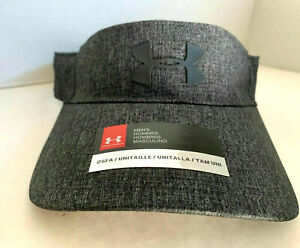 NEW! Under Armour Men's Coolswitch Train Visor-Grey/Black 20906173