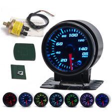 """High Quality 2""""/52mm LED Car Oil Press Gauge Oil Pressure Meter W Sensor Holder"""