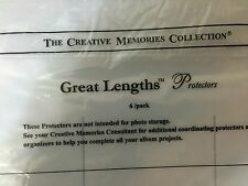 New Creative Memories Great Lengths Sticker Protectors 6 Pack 3 slots each side